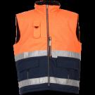 Gilet Bologna multirisques Orange Haute Visibilité, Fr-as climat frais conforme à la norme ATEX