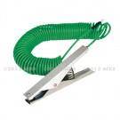 Cable spiralé vert MALT avec 1 pince MM ATEX et 1 œillet