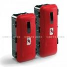 Coffre d'extincteur rouge et noir type L - Matière polypropylène