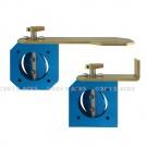 Clapet étouffoir standard diametre 40 - Version manuelle à corps standard à simple coupure