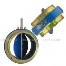Clapet étouffoir standard diametre 40 - Version manuelle à simple coupure avec 2 manchettes