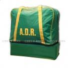 Sac de transport vert et jaune souple marqué ADR