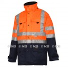 Parka BARCELONA Multirisques HV Orange Fr-as protection chimie et pluie conforme à la Norme ATEX