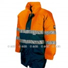 Parka TAIL + doublure détachable Multirisques Orange HV Fr-as, chimie conforme à la Norme ATEX