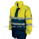 Parka TAIL + doublure détachable Multirisques Jaune HV Fr-as, chimie conforme à la Norme ATEX