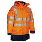 Parka ST PETERSBOURG Orange + Veste Matelassée Multirisque HV Fr-as chimie conforme/ norme ATEX