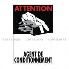 """Symbole de danger 300 x 200 """"Agent de Conditionnement"""" - Neutre"""
