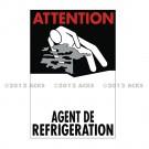 """Symbole de danger 300 x 200 """"Agent de Réfrigération"""" - Neutre"""