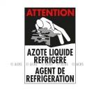 """Symbole de danger 300 x 200 """"Agent de Réfrigération"""" - Azote…"""