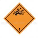 Symbole de danger Alu 250 x 250 N° 1
