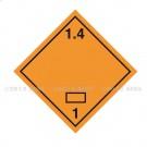 Symbole de danger Alu 250 x 250 N° 1.4