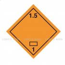 Symbole de danger Alu 250 x 250 N° 1.5