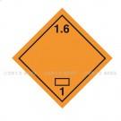 Symbole de danger Alu 250 x 250 N° 1.6