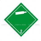 Symbole de danger Alu 250 x 250 N° 2.2 – Blanc