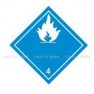 Symbole de danger Alu 250 x 250 N° 4.3 – Blanc