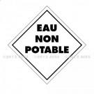 """Symbole Service des mines - Marquage """"EAU NON POTABLE"""""""