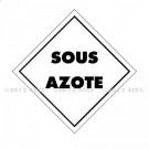 """Symbole Service des mines - Marquage """"SOUS AZOTE"""""""