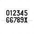 Planche de 12 chiffres transfert pour panneau produit de 0 à 9 et X