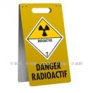 """Chevalet avec 1 logo - """"Danger Radioactif"""" - 500 x 300"""