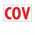 "Adhésif d'information ""COV"" 100 x 50"
