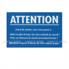 "Adhésif de prévention ""Rambarde …"" 225 x 145"