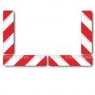 Kit de 4 panneaux rectangulaires remorque 2 x Droite et 2 x Gauche Norme TPESC